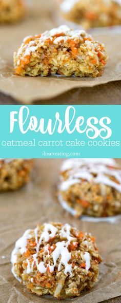 These Flourless Oatmeal Carrot Cake Cookies make a tasty dessert for any time!