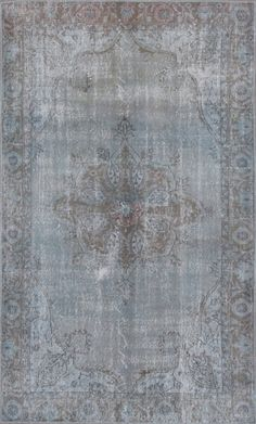 Pale blue vintage #Turkish #Carpet