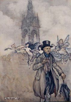 'Peter Pan in Kensington gardens' by J.M. Barrie; with drawings by Arthur Rackham. Published 1906 by Charles Scribner's Sons, New York.