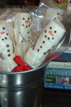 marshmallow snowmen
