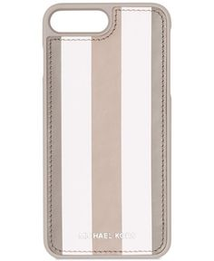 466dee64b5f4 Michael Michael Kors Electronic Leather Letters iPhone 7 Plus Case - Gray