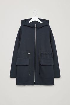 COS image 4 of Drawstring scuba coat in Navy