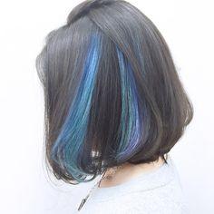 30 Ideas hair ideas dyed dark for 2019 Hair Color Streaks, Hair Dye Colors, Hair Color Dark, Hair Color Balayage, Ombre Hair Color, Hair Highlights, Hidden Hair Color, Hair Color Underneath, Pretty Hair Color