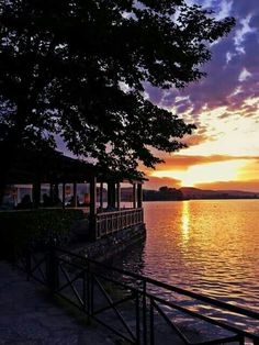 Ioannina, sunset in the lake. Epirus Region, Greece Ioannina, sunset in the lake. Zorba The Greek, Beautiful Scenery, Sailing, Sunset, Landscape, World, Breeze, Outdoor, Beautiful Landscapes