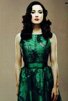 Divine Dita Von Teese the queen of dark yet feminine style.<3
