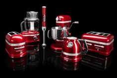 I'm in love with this product line from KitchenAid. My kitchenaid mixer has lasted 28 years! =) Pro Line® Series Appliances Red Kitchen Appliances, Red Kitchen Aid, Black And Red Kitchen, Small Appliances, Kitchen Colors, Kitchen Countertops, Kitchen Gadgets, Kitchen Stuff, Kitchen Items