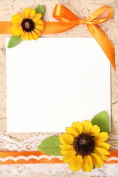 Blank vintage paper with flowers design stock photo - 4628297 Frame Border Design, Page Borders Design, Flower Background Design, Paper Background, Framed Wallpaper, Flower Wallpaper, Collage Photo Editor, Android Phone Wallpaper, Sunflower Cards