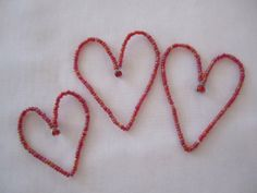 Beaded Wire Heart