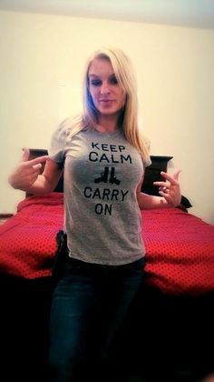 Jessica Driver sporting her Keep Calm Tee from AAG!   Get yours here: http://mysocialtees.com/products/keep-calm-limited-edition-tshirt?pin
