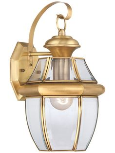 Buy the Quoizel Polished Brass Direct. Shop for the Quoizel Polished Brass Newbury 1 Light Title 24 Compliant Outdoor Wall Sconce and save. Brass Outdoor Lighting, Outdoor Light Fixtures, Outdoor Wall Lantern, Outdoor Wall Sconce, Outdoor Walls, Lantern Lighting, Outdoor Decor, Quoizel Lighting, Wall Mounted Light