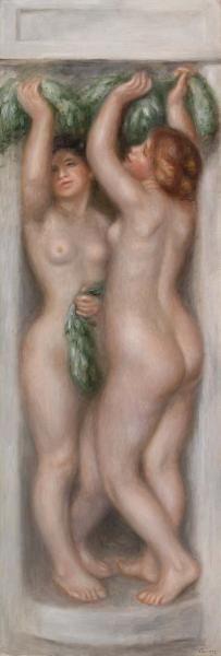 also called Deux baigneuses (panneau décoratif) Renoir Pierre Auguste Renoir, Jean Renoir, Portraits, Portrait Art, Monet, Michelangelo Artist, Vase Vert, August Renoir, Barnes Foundation