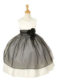 Black Elegant Flower Girl Dress