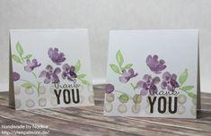 Stampin Up Dankeskarte Karte Thank You Card Grusskarte Greeting Card Stempelset Painted Petals #stampinup