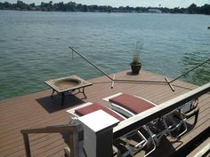 Buckeye lake home lower deck over looking the water on the west end of the lake