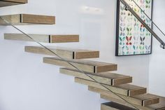 Floating stairs is a specialty of Siller Cantilever Stairs, Glass Stairs, Floating Staircase, Corian, Stair Treads, Modern Architecture, Shelves, Wood, Staircases
