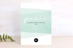 Awash In Peace Business Holiday Cards