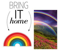 """""""Bring It Home: Anya Hindmarch Rainbow Leather Sticker"""" by polyvore-editorial ❤ liked on Polyvore featuring interior, interiors, interior design, home, home decor, interior decorating, Anya Hindmarch and bringithome"""