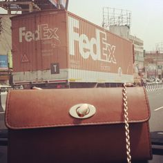 ** Super Cheesy #PhotoOp Alert** Resting easy because we  have the wonderful team of @Fedex right behind us :) Worldwide deliveries, secure packaging & super fast transits!  I know Smriti & the team wouldn't trust anyone else with me and my sisters.  Gotta run now. See you sooonestt!! xx #CityGirl #Ellie  #Vintage #Instafashion #Artisanal #PureLeather #Leather #WorkshopMade #Chiaroscuro