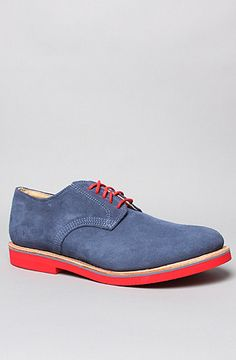 Walk-Over Shoes The Derby Midi Shoe in Denim Suede Red : Karmaloop.com - Global Concrete Culture