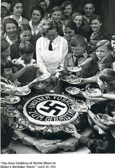 Members of both the Hitlerjugend (Hitler Youth) and Bund Deutscher Mädel (Band of German Maidens) receive appetizing traditional meals during the partaking of various activities hosted by the respective government-sponsored youth organizations.