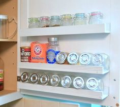 s 10 hidden spots in your kitchen you could be using for storage, kitchen design, storage ideas, Add spice shelves inside your cabinets