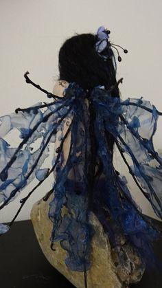 SHADOWSCULPT OOAK goth fantasía azul hada bosque por shadowsculpt