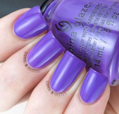 China Glaze - Plur-ple swatch - Electric Nights Summer 2015 Colletion - IG @GameNGloss