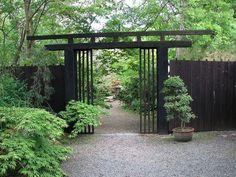 Natural Japanese Fence Design Black Japanese Fence Design With Nice Potted…