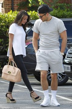 Wish you were there: The former TOWIE star was pictured looking tired and down as he lande...