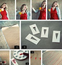 Necesitaréis: papel de estraza o marrón de envolver (la medida dependerá de la pared que queráis cubrir), un bolígrafo negro fino, un pincel de esponja, pintura y una plantilla con el motivo que deseéis (por ejemplo un triángulo como guirnalda).