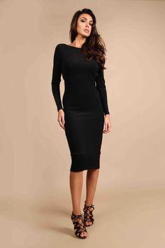 Aaliyah Midi Dress   #fashion #midi #aw16  http://www.rebeccarhoades.com/product/aaliyah-midi-dress/