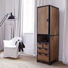 wood and steel wardrobe ideas Compact Furniture, Smart Furniture, Space Saving Furniture, Diy Furniture Projects, Steel Furniture, Colorful Furniture, Online Furniture, Furniture Design, Furniture Buyers