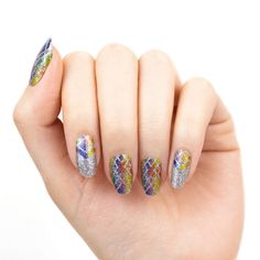 Color Street Nail Polish Strips Will Add Pixie Dust To Your Nails Silver Glitter, Glitter Nails, Disney Inspired Nails, Geometric Nail Art, Nail Polish Strips, Chrome Nails, Color Street Nails, Nail Bar, Accent Nails
