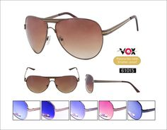 Description: VOX Fashion Sunglasses   Frame:	Assorted  Lens:	Assorted Poly Carbonate