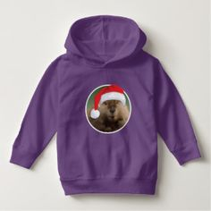 Christmas Beaver - Toddler Pullover Hoodie