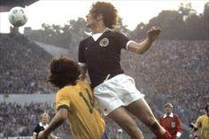 "Joseph ""Joe"" Jordan (Scotland, 1973–1982, 52 caps, 11 goals). Scotland vs Brazil, 1974 FIFA World Cup West Germany."