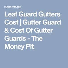 Millions Of Feet Of Gutter Guard And Gutter Guardian Brand