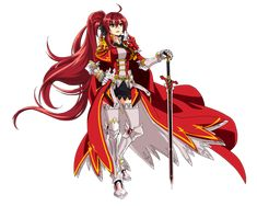 Character Concept, Character Art, Character Design, Beautiful Anime Girl, Anime Love, Fantasy Characters, Female Characters, Anime Red Hair, Elsword Game