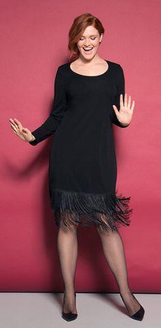 Anna Scholz for Sheego - Twenties fringe dress Designermode in großen Größen