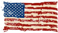 Brushstroke flag graphic