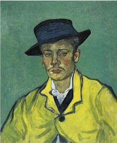 Vincent Van Gogh [Dutch Post-Impressionist Painter, Portrait of Armand Roulin 1888 oil on canvas Museum Folkwang Essen, Germany, Europe Art Van, Van Gogh Art, Rembrandt, Vincent Van Gogh, Claude Monet, Van Gogh Pinturas, Van Gogh Portraits, Portrait Paintings, Georges Seurat