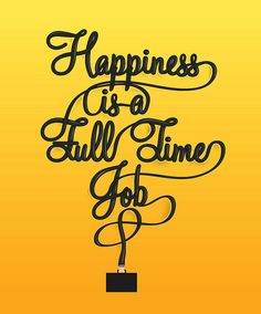 Happiness in lettering