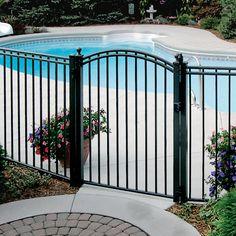 ornamental pool fence - Google Search