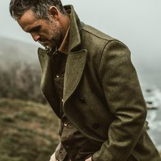 Mens Outdoor Fashion, Mens Fashion, Fashion Suits, Peacoat Outfit, Mens Peacoat, Preppy Style, Men's Style, Folk Style, Dapper Men