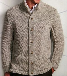 From Knitting Off the Axis by Mathew Gnagy. Pinterest Mode, Gents Sweater, Mens Fashion Sweaters, Pin On, Mens Jumpers, Sweater Weather, Pulls, Knit Cardigan, Knitwear