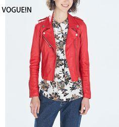 32.65$  Buy here - VOGUE!N New Womens Ladies Lapel Long Sleeved Faux Leather Jacket PU Slim Motorcycle Coat Outwear   #buymethat