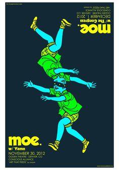 moe.  The Ogden Theatre - Denver, CO  November 30-December 1, 2012  Art by Meerk $20