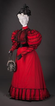 Woman's ensemble.1894-96, Silk  Gift of the Manlove Family, FIDM Museum