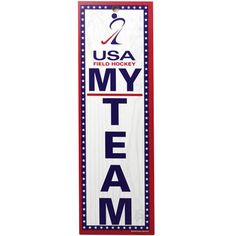 USA Field Hockey 4'' x 13'' Wooded Sign - $4.74