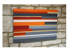 Large Wall Art Wood Sculpture Wood Wall Art Orange Red